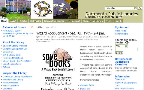 Dartmouth Public Libraries Website