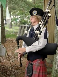 Bagpiper at RI Scottish Festival